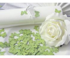 10g Streudeko Hochzeit EinsSein® Butterfly hellgrün Tischdeko Hochzeit ca. 160St