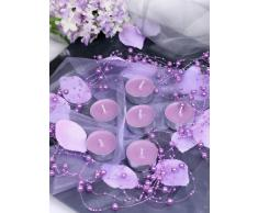 Perlengirlande hell - lila 5 Stück 1,3m Tischdeko Hochzeit Taufe Weihnachten
