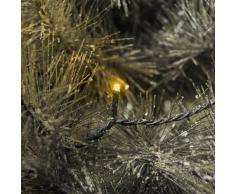 Konstsmide 3612-000 Micro LED Lichterkette / für Außen (IP44) / 24V Außentrafo / 120 gelbe Dioden / schwarzes Kabel