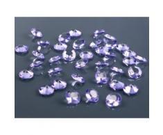 SiDeSo® Dekosteine lila 12mm Diamanten 100 Stück Acryl Tischdeko Hochzeit