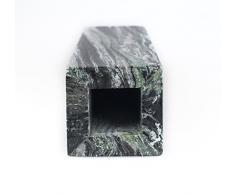 Yuchengstone Grüne Marmor Vase, Serie Blumenvase, Deko, Wohnaccessoire, Naturstein, sehr massiv Marmor Unikat, Maße: 8 x 8 x 28 cm, Gewicht: ca.3,9kg