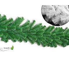 2,7m Tannengirlande Ø ca. 20 - 40cm Weiß Innen Weihnachtsdeko künstliche Weihnachtsgirlande Indoor