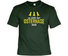 Lustiges T-Shirt Ostern / Osterhasen - Geschenkartikel Ostern : so sieht / So sieht der Osterhase aus Gr: XL Farbe: dunkelgrün