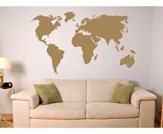 Graz Design 630031_57_070 Wandtattoo Wandaufkleber Weltkarte Länder Umriss (Größe=102x57cm//Farbe=070 schwarz)