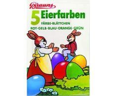 Ostereier-Kaltfarben Eierfarben 5 Blättchen