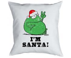 Mega cooles Kuschelkissen Dekokissen Sofakissen zur Weihnachtszeit - Im Santa! lustiges Weihnachtsgeschenk Kissen Polster
