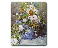 1art1 89355 Pierre Auguste Renoir - Große Vase Mit Blumen, 1866 Mauspad 23 x 19 cm