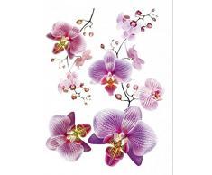 1art1 59573 Blumen - Rosa Orchideen Wand-Tattoos Aufkleber Poster-Sticker 85 x 65 cm