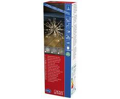 Konstsmide 2896-303 LED Lichterball silberfarben / für Außen (IP44) / VDE geprüft / 24V Außentrafo / 120 warm weißen Dioden / transparentes Kabel