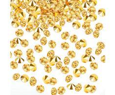 Transparente Hochzeits-Streudekoration, 10.000 Acryl-Kristalle, Diamanten, Strass für Hochzeit, Brautparty, Vasen, Perlen, acryl, gold, 0,30 cm