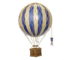Authentic Models - Heißluftballon/Ballon-Modell - Karton/Bastkorb - Handarbeit - Ø 8 cm - Höhe: 20 cm