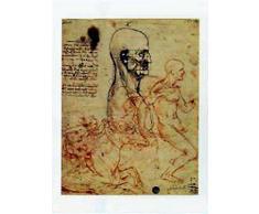 1art1 37619 Leonardo Da Vinci - Studie Von Menschen Und Von Ritter Poster Kunstdruck 50 x 35 cm