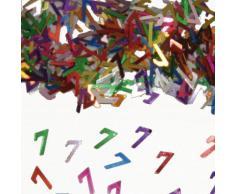 Bunt glitzerndes Konfetti mit Geburtstagszahl: 7 // Tüte mit 15g (ca. 1000 einzelne Konfetti's) // Deko Tischdeko Jubiläum Zahlenkonfetti Metallkonfetti Streukonfetti siebter Geburtstag Birthday Kinder Kindergeburtstag