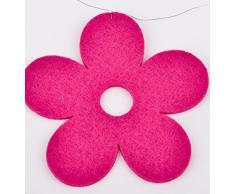 Blüten Deko Girlande Filz 100x10x1cm (pink)