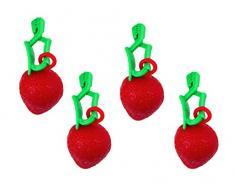 Tischtuchbeschwerer Obst Tischtuchbommeln Tischtuchgewichte Tischtuchhalter (4xErdbeere)