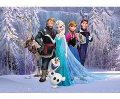 1art1 81669 Die Eiskönigin, Völlig Unverfroren - Charaktere, Olaf, Sven, Anna, Kristoff, Elsa, Hans Fototapete Poster-Tapete 160 x 115 cm