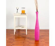 Große Bodenvase 75 cm, Mangoholz, Pinkfarben