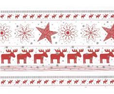 Susy Card 11103884 Geschenkfolie Weihnachten, Folie 30 µ, eingeschweißt, Motiv Greetings, 2 m x 70 cm, 1 Stück