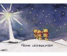 Süße WeihnachtsPOSTkarte Sternengucker