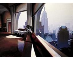 1art1 44469 New York - Morning Idea, Panorama - Frémond Poster Kunstdruck 80 x 60 cm
