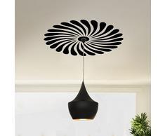 Grandora Wandtattoo modernes Ornament für Deckenlampen I Mittelgrau (BxH) 58 x 58 cm I Wohnzimmer Schlafzimmer Sticker Aufkleber Wandaufkleber Wandsticker W154