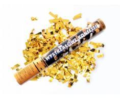 SiDeSo® Konfetti Shooter metallik Hochzeit Deko Silvester Party Feier (gold 10 Stück)