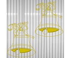 2 Glocken Aufkleber Glocke Weihnachtsglocke die cut Tattoo Wandtattoo Auto Fenster Deko Folie Weihnachten (gold metallic)