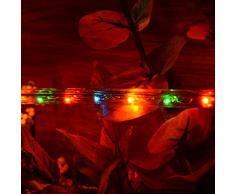 Lichterschlauch 20m Lichterkette Weihnachtsbeleuchtung XMAS (bunt)