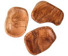 Windalf Vintage Deko Obst-Schale NORI 20 cm Schmuckschale Vorraumschale Münzen Teakschale Pralinen Kekse Teakschale Handarbeit aus Holz