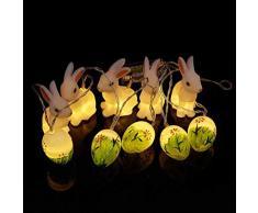 Morbuy Ostereier Deko, Osterdekoration Kaninchen Laternen Lichterkette Kinder Eier Basteln Baby Ostern Bemalen Ostern Geschenktüten Süße Tischdeko und Geschenk zu Oster (Gras)