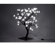 Nipach GmbH 64 LED Baum mit Blüten Blütenbaum Lichterbaum weiß 45 cm hoch Trafo IP44 Timer Weihnachtsbeleuchtung Weihnachtsdeko Lichterdeko Xmas