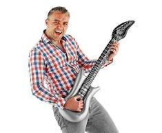 Carpeta Aufblasbare Luft Gitarre   Luftgitarre aufblasbar   100cm groß   Inflatable Guitar   Rockstar Design   Karaoke-Accessoire