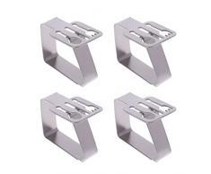 Hothap Tischdeckenbeschwerer aus Edelstahl, Geschirr-Motive, 4er-Set