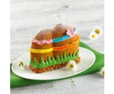 Kaiser Inspiration 3D Backform Osterei, 0,7 l, antihaftbeschichtet, Kuchenform für Ostern, Silikonklammern