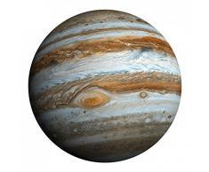 1art1 88300 Der Weltraum - Der Planet Jupiter Wand-Tattoos Aufkleber Poster-Sticker 60 x 60 cm