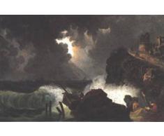 GFM Painting Handgemalte Ölgemälde Reproduktion von Maritime Peril 1820s,Ölgemälde von kisfaludy karoly - 16 By 20 inches