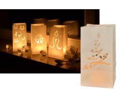 MQ 8 x Lichtertüten Weihnachten Dekoration Deko Leuchttüten Tüten-Licht Candle Bag