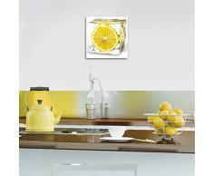 Eurographics DG-AU2101 Glasbild Deco Glass Iced Lemon 20 x 20 cm