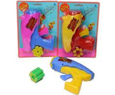 Amakando Luftschlangen-Shooter mit Munition / Bunt mit 6 Schuss / Party Popper mit Lamettaglitzer / Genau richtig zu Fasching & Karneval