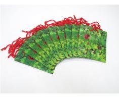 Susy Card 11277670 Geschenktaschen, 10-er Packung, glänzendes Papier, Motiv Glücksklee 2