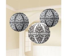 Lampions Ornament, 3 St, schwarz-Weiss - die ideale Deko für Festliche Anlässe