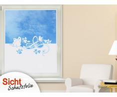 Graz Design 980123_90x57 Sichtschutzfolie Fenster-tattoo/aufkleber, Kinderzimmer Mädchen Schmetterlinge Blumen, 90 x 57 cm