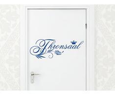 Graz Design 650055_30_073 Wandtattoo Wandaufkleber Badezimmer WC Spruch Thronsaal für den Toilettendeckel 82x30cm Dunkelgrau