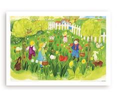 Poster fürs Kinderzimmer von Eva Maria Ott-Heidmann - Ostereier vom schnurverlag