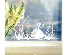 Fensterbilder Kinder Frühling Kinderzimmer Cinderella Schmetterlinge Wiese Schmetterlinge M1368f (flieder)