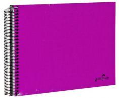 Goldbuch Spiralalbum, Bella Vista, 24x17 cm, 40 schwarze Seiten, Leinen, Pink, 20 964