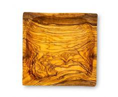 Holzschale Olivenholz ca. 15x15cm Schale Holz Dekoschale Natur Unikat Tischdeko Brotschale Snackschale