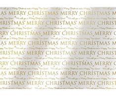 Susy Card 40003184 Weihnachts-Geschenkfolie, Motiv: Greetings, 2 m