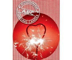 Wunderkerze Herz rot