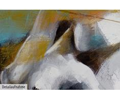 KunstLoft® Gemälde Momente der Ekstase 120x60cm   Leinwandbild handgemalt   Akt nackte Frau Erotik bunt   signiertes Wandbild-Unikat   Acrylgemälde Leinwand   Original Acrylbild auf Keilrahmen